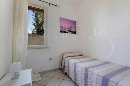 La camera singola della casa vacanze vicino al mare del Salento