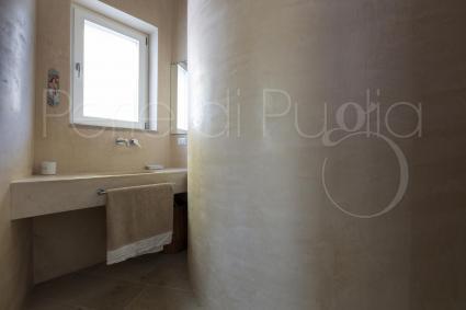 Particolare anche il bagno doccia