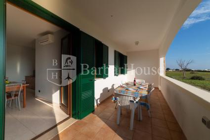The equipped outdoor veranda